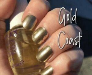 mani3LColorStreet GOLD COAST Nailstrips NEW RETIRED RARE Gold Shimmer