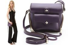 REBECCA MINKOFF Camera Bag Craig Xbody Plum Leather Crossbody NWT