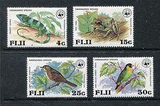 Fiji 397-400 MNH Birds: Long-legged Thicketbird, Parrotfinch WWF 1979 x18972