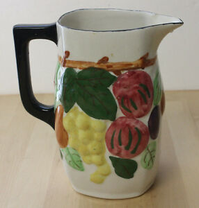 Vintage Blue Ridge China Southern Potteries Hand Painted Fruit Pitcher