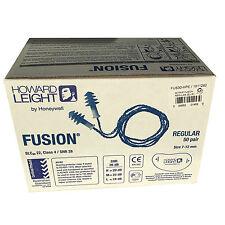 50 Pairs Reusable Earplugs Howard Leight Fusion Regular Corded Ear Plugs 28db