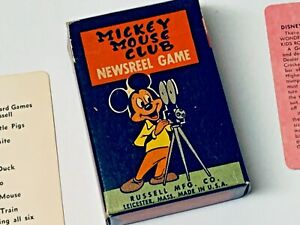 VINTAGE MICKEY MOUSE CLUB NEWSREEL GAME RUSSELL CO. DISNEY VOL.3 GREEN