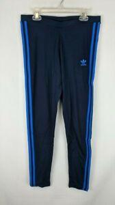 Adidas Originals 3 Stripes Leggings, Navy, Women's Medium
