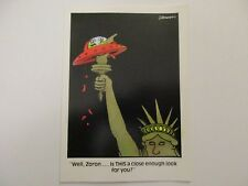 """Vintage """"The FAR SIDE"""" 1982 Greeting Card """"UFO Stuck on Statue of Liberty""""  NEW"""