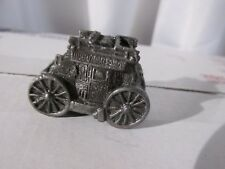 "Vintage Four Horse Drawn Stage Coach Pewter 1.5"" Old Collectible Toy/Figurine"