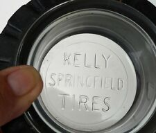 """1940's Kelly Springfield Tires, Rubber, Embossed Glass Ashtray  """" Tom Cat"""""""