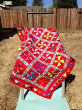 """New Red Disney's Mickey Mouse Handcrafted Baby /Lap / Crib Quilt 46"""" X 52"""""""