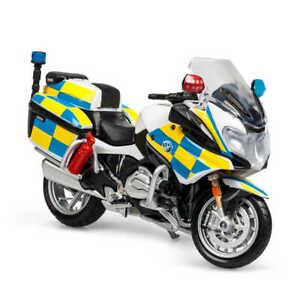 BMW POLICE MOTORBIKE R1200 RT 1:18 Scale Model Toy Bike Emergency Maisto