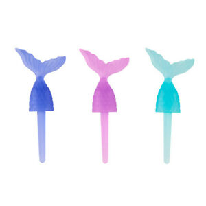 12  Mermaid Tail Cupcake Food Picks Topper Under the Sea Beach Party Supply