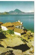 Lake Atitlan San Antonio Palopo Guatemala Postcard c1960