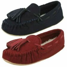 Ladies Clarks Cozily Comfy Moccassin Style Slippers
