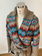 Polo Ralph Lauren, Cardigan, XL, Shawl Collar, Country Style, Fair Isle Pattern