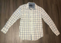 American Rag Blue And White Plaid Long Sleeve Button Up Shirt Mens Medium