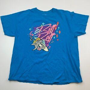 Riff Raff Men's XL Graphic T Shirt Blue