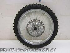 07 KX85 KX 85   front wheel rim with disc and tire     40