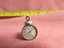 "Miniature Metal Alarm Clock/Compass 5/8"" T Great Dollhouse Collectible M933"