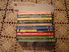 Vermont Railroad DVDs (10) LOT professional quality documentaries