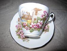 """Vtg Regency bone china Heritage Collection """"Nova Scotia"""" pattern teacup & saucer"""