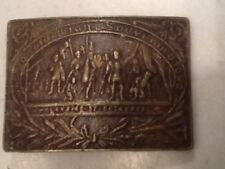 Vintage Reproduction Brass Belt Buckle Columbian Exposition Free Shipping!