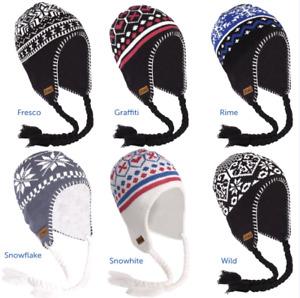 Breo Unisex Peruvian Beanie Winter Ski Hats With Tassels - One Size