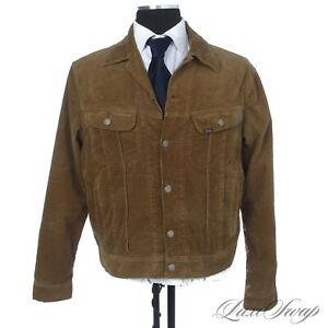 #1 MENSWEAR Polo Ralph Lauren Olive Infused Brown Corduroy Trucker Jacket Coat L