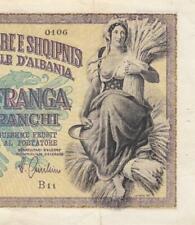 1940 BANCA D'ALBANIA 100 FRANGA ITALY **RARE** (( EF ))