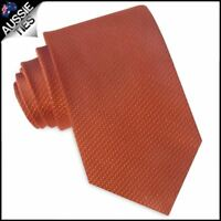 Burnt Orange Woven Texture Mens Tie Men's Necktie