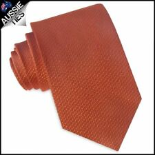 Burnt Orange Woven Texture Mens Tie Men's Necktie