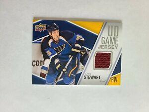 2011-12 Upper Deck Game Jersey Chris Stewart St. Louis Blues - Jersey RED