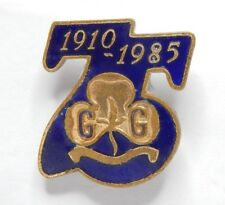 Girl Guides 75 years Enamel Membership badge 1910-1985