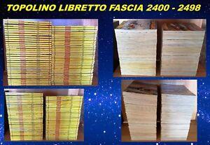 FUMETTO TOPOLINO LIBRETTO WALT DISNEY FASCIA 2400 2498 PERFETTI ENTRA SCEGLI