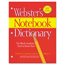 Merriam Webster Notebook Dictionary Three Hole Punched Paperback 80 Pages