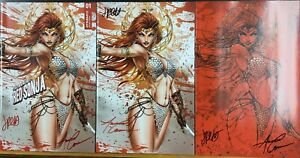 Invincible Red Sonja #1 James Tyndall Variant Set - Signed Conner/Palmiotti
