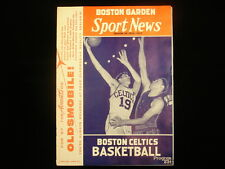 December 1, 1956 Fort Wayne Pistons @ Boston Celtics Program - Unscored!