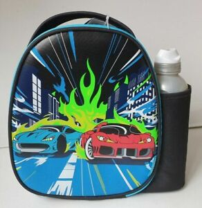 Brand New Boys Smash Racing Cars Lunch Bag/Box and 500ml Water Bottle