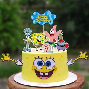 Spongebob Cake Topper Birthday Party Spongebob Cake Decoration Cupcake Wrappers