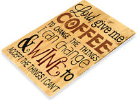 TIN SIGN Coffee & Wine Rustic Sign Store Cottage Shop Kitchen Bar Café  A041