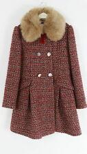 Monsoon Red Girls Multi Tweed Winter Dress Coat Midi Winter Jacket AGE 12/13 Yrs