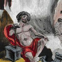 Gravure XVIII Vulcain Dieu Feu Forge Volcan Héphaïstos  Ήφαιστος Hephaestus 1793