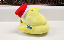 "Christmas Yellow Peep With Red Santa Hat 5"" Plush New Holiday Stocking Stuffer"