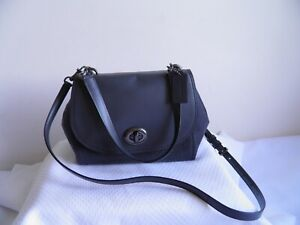 COACH F22348 FAYE MIXED MATERIALS LEATHER SATCHEL CARRYALL