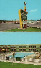 Holiday Inn Bloomington Illinois Hotel Vintage Postcard