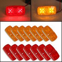 (14) Trailer Marker LED Light Double Bullseye 10Diodes Clearance Light Red/Amber