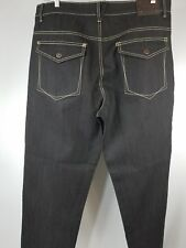 NEW Knockout Men Jeans Size 38 x 34 Very dark Brown Straight Fit