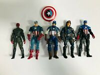 Marvel Universe Captain America Red Skull Winter Soldier Action Figure lot of 5