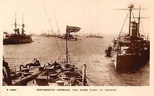 POSTCARD  SHIPS    PORTSMOUTH  Harbour   Home  Fleet  at  Anchor