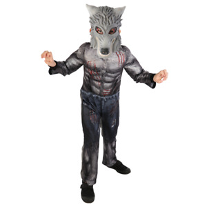 2 Pieces Halloween Werewolf Costume - Kids Fancy Dress Outfit 5-12 Years