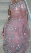 Stunning pink net saree with Blouse