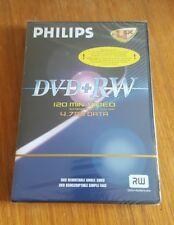 PHILIPS DVD + RW Disc , 4.7GB data ( RW DVD+Rewritable ) New & Sealed..