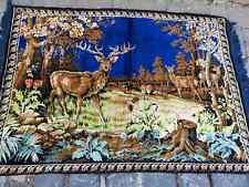 Blue velvet tapestry, high quality vintage velvet